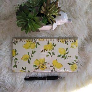 Kate Spade Set of 3 Lemon spiral notepad